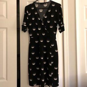 Circle Gradient Print Wrap Dress